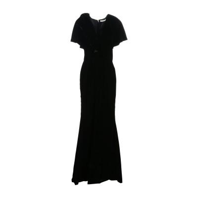 .AMEN. ロングワンピース&ドレス ブラック 40 ポリエステル 100% ロングワンピース&ドレス