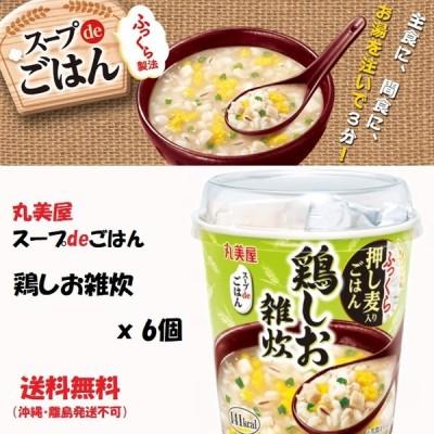 丸美屋 スープdeごはん 鶏しお雑炊 6個 送料無料(沖縄・離島発送不可)