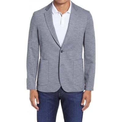 ノードストローム NORDSTROM メンズ スーツ・ジャケット ブレザー アウター X-Trim Fit Melange Knit Sport Coat Grey Textured Knit