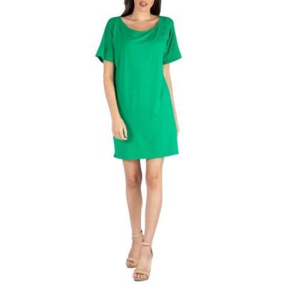 24セブンコンフォート レディース ワンピース トップス Women's Loose Fit T-Shirt Dress