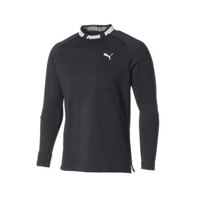 【プーマ】 ゴルフ タイトスリーブ モックネック ポロシャツ メンズ PUMABLACK XXL PUMA