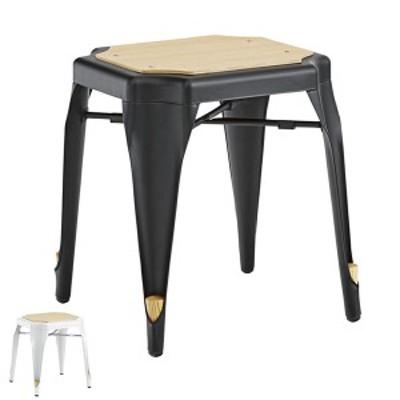スツール 高さ46cm スチール スタッキング 積み重ね 椅子 チェア ヴィンテージ調 ( イス いす 腰掛け チェアー キッチン 玄関 リビング