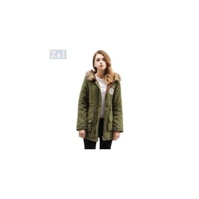 ダウンコート 中綿ジャケット コート アウター レディース 欧米風 フード付き ファー付き 秋冬 保温 暖かい 女性 全16色展開 S?3XL
