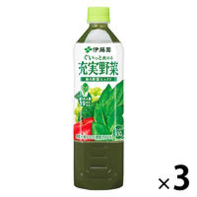 伊藤園伊藤園 充実野菜 緑の野菜ミックス 930g 1セット(3本) 【野菜ジュース】