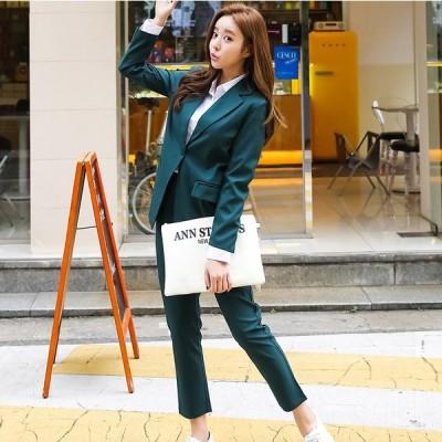 セットアップ ジャケット パンツ スーツ おでかけ 通勤 入園 卒園 入学 卒業 きれいめ カジュアル 大人可愛い 韓国ファッション