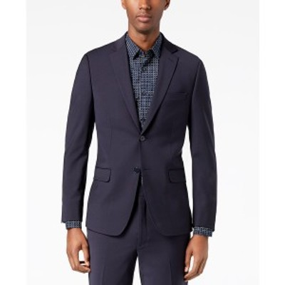 カルバンクライン メンズ ジャケット&ブルゾン アウター Men's Skinny-Fit Infinite Stretch Suit Jacket Navy