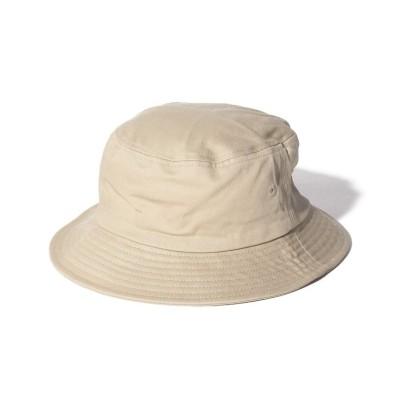 (FRUIT OF THE LOOM/フルーツオブザルーム)Bucket Hat Twill/ユニセックス ベージュ