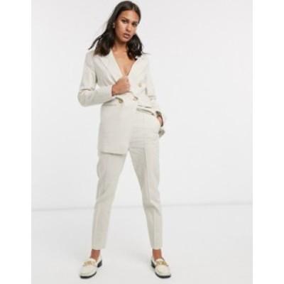 エイソス レディース カジュアルパンツ ボトムス ASOS DESIGN ultimate linen cigarette suit pants Neutral