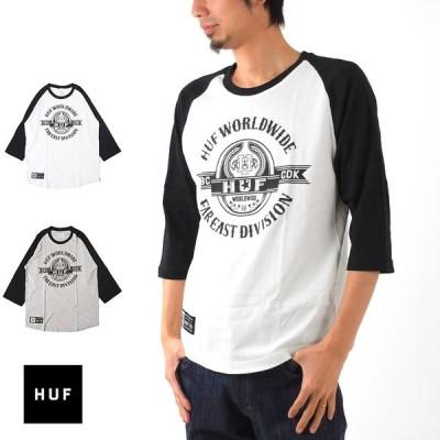 ハフ HUF Tシャツ HUF JAPAN LIMITED ラグラン 7分袖Tシャツ 7STARS DESIGN コラボレーション TSJL02FA16 メンズ