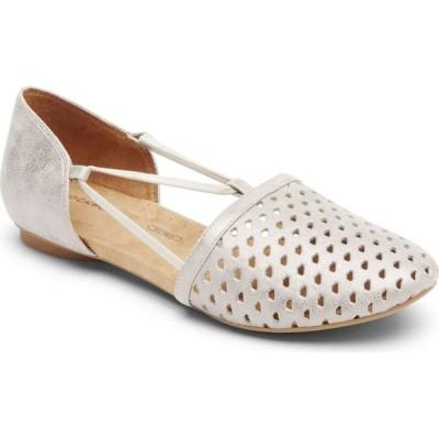 ロックポート Rockport レディース スリッポン・フラット シューズ・靴 Reagan Perforated Flats Silver