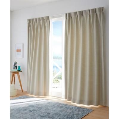 【1cm単位オーダー】チョークボーダー柄遮光カーテン(1枚) ドレープカーテン(遮光あり・なし) Curtains, blackout curtains, thermal curtains, Drape(ニッセン、nissen)