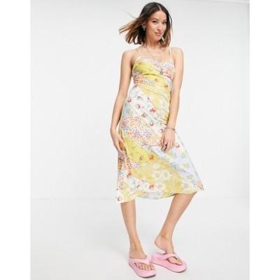 ヴァイオレット ロマンス レディース ワンピース トップス Violet Romance cami slip dress in mixed floral print