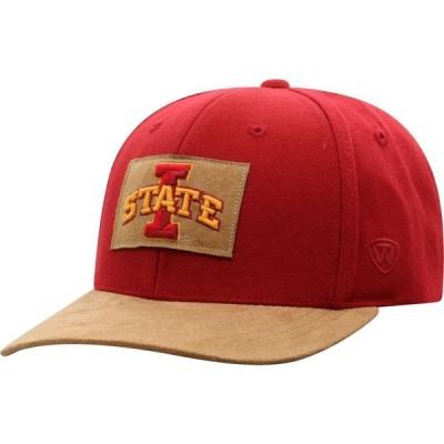 トップオブザワールド Top of the World メンズ キャップ 帽子 Iowa State Cyclones Cardinal Hide Adjustable Hat