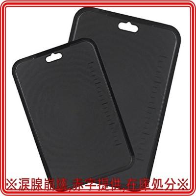 【BLKP】 パール金属 日本製 まな板 食洗機対応 備長炭入り シート まな板 2枚組 大 中セット 限定 ブラック 黒 BL