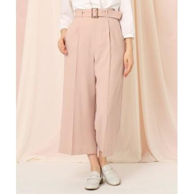 Couture Brooch/クチュールブローチ 【セットアップ可】クロップドワイドパンツ ベビーピンク(071) 36(S)