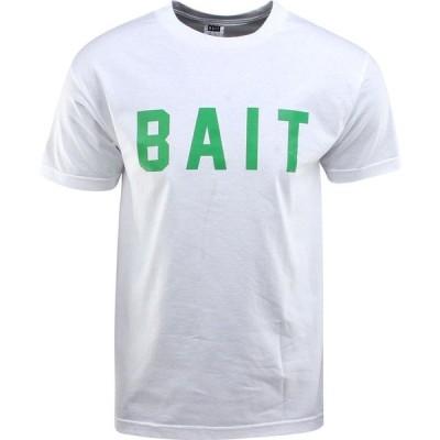 BAIT メンズ Tシャツ ロゴTシャツ トップス Logo Tee white/green