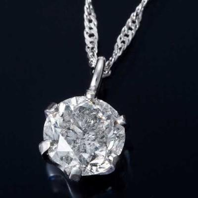 K18WG 0.3ct ダイヤモンド ペンダント ネックレス スクリューチェーン