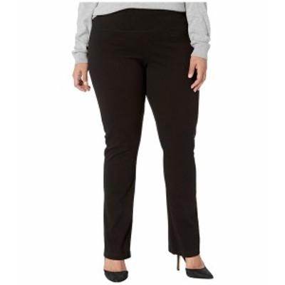 リジー レディース デニムパンツ ボトムス Plus Size Denim Straight Leg Jeans Black