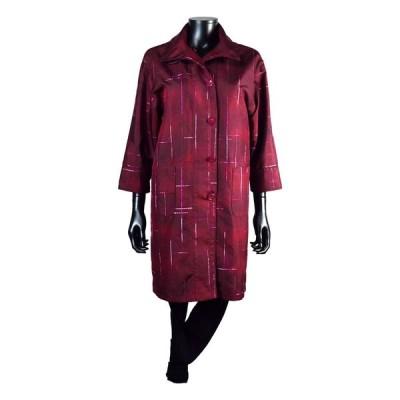 七分袖ハーフコート シルク 絹 グラデーションに刺繍のアクセント フリーサイズ 春 夏 秋 レディース