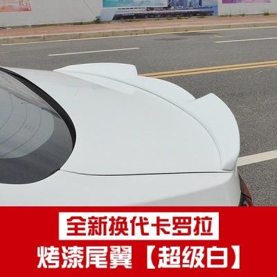 カローラ リアスポイラー2018-2020  white/Carbon fiber pattern