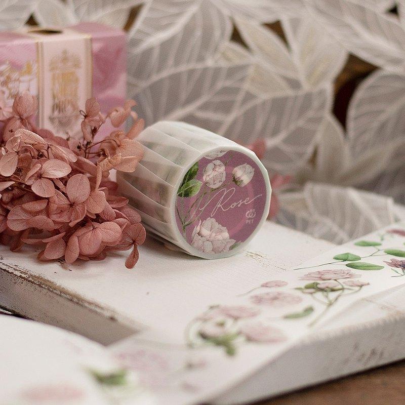 5cmPET白墨膠帶-薔薇Rose