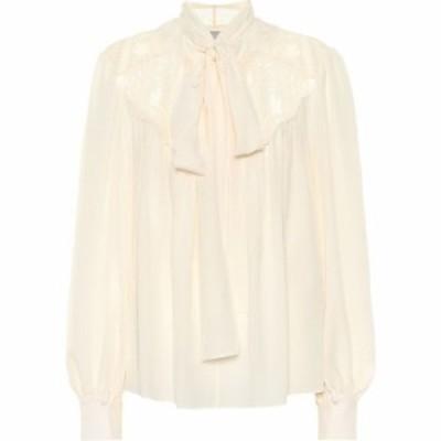ステラ マッカートニー Stella McCartney レディース ブラウス・シャツ トップス Silk crepe de chine blouse Natural