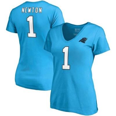 レディース スポーツリーグ フットボール Cam Newton Carolina Panthers NFL Pro Line by Fanatics Branded Women's Authentic Stack Name &
