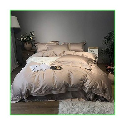 Xihouxian Double Duvet Covers Set Green, 100% Cotton 4 Pieces Embroidery Glamorous Bedding Set Duvet Covers Set Include 2 Pillowcases +1 Fla