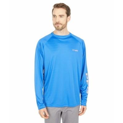 コロンビア シャツ トップス メンズ Terminal Tackle L/S Shirt Vivid Blue/Bright Nectar Logo