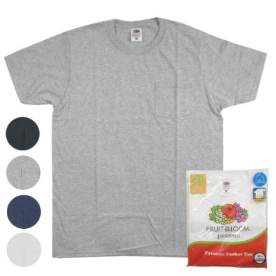 FRUIT OF THE LOOM フルーツオブザルーム ポケットTシャツ 2枚組 パックT