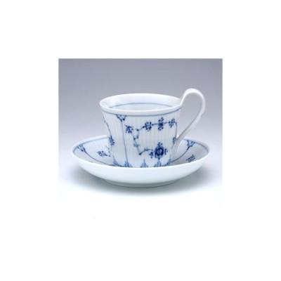 ロイヤルコペンハーゲン ブルーフルーテッドプレイン ハイハンドルカップ&ソーサー(S) 1017176(1 101 092)