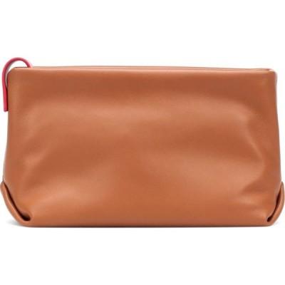 ロロピアーナ Loro Piana レディース クラッチバッグ バッグ Inside Out Leather Clutch Seda Brown