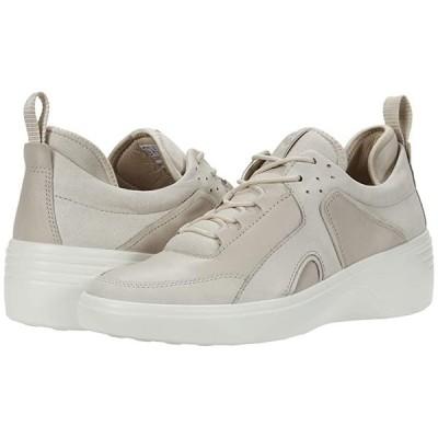 エコー Soft 7 Wedge City Sneaker レディース スニーカー Gravel/Gravel Yak Nubuck/Cow Leather