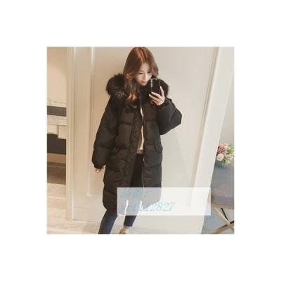 ダウンジャケット 2020 冬 新しい ダウンジャケット 綿の服 アプセット加工 服 ミドル丈 韓風 20代 40代 綿入れ 韓国風 30代 レディース コート ゆるい 膝上