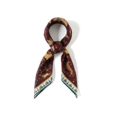 ストール Drake's / ウールシルク アニマルプリント スカーフ