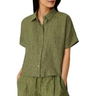 エイリーンフィッシャー レディース シャツ トップス Boxy Linen Shirt