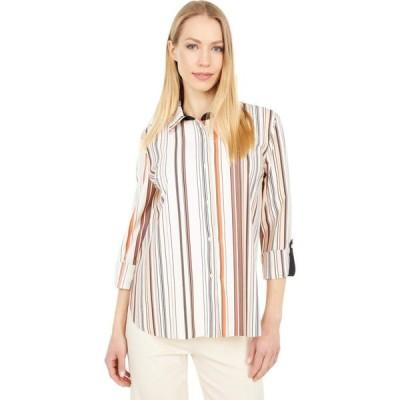 リセ Lysse レディース ブラウス・シャツ トップス Roll Tab Printed Connie Microfiber Button Front Shirt Desert Multi Stripe