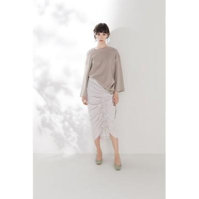 【コエル】 シャーリングタイトスカート レディース ライト グレー 38 COEL