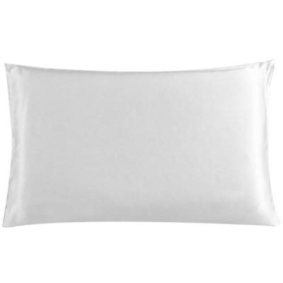 uxcell 枕カバー ピローカバー マルベリーシルク100% シルク枕カバー 美肌 髪 トラベルサイズ 36cmx51cm ホワイト