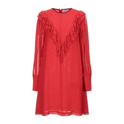 ガニー GANNI ミニワンピース&ドレス レッド 36 レーヨン 100% ミニワンピース&ドレス