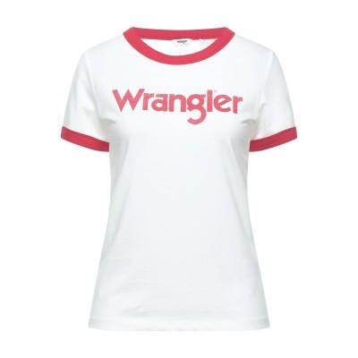WRANGLER T シャツ ホワイト M コットン 50% / ポリエステル 50% T シャツ