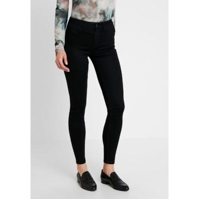 ピーシーズ デニムパンツ レディース ボトムス Slim fit jeans - black