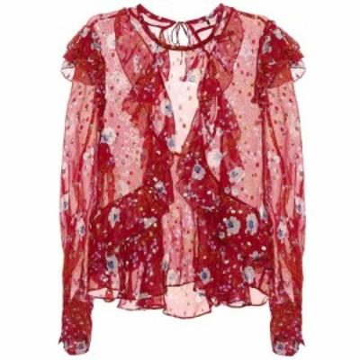 イザベル マラン Isabel Marant レディース ブラウス・シャツ トップス Ruffled floral-printed blouse Raspberry