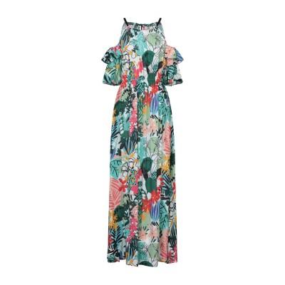 LAB ANNA RACHELE ロングワンピース&ドレス グリーン 42 レーヨン 100% ロングワンピース&ドレス