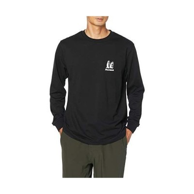 [マーモット] クルー(長袖) Marmot Old Logo L/S Crew/マーモットオールドロゴロングスリーブクルー メンズ BK