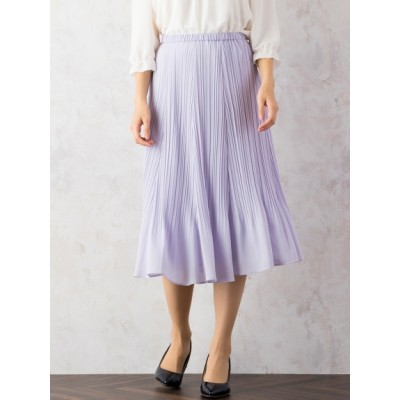 【大きいサイズ】シフォンプリーツスカート 大きいサイズ スカート レディース