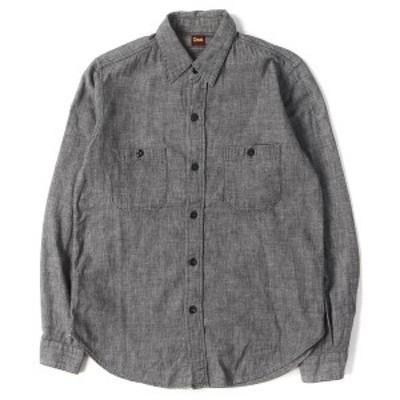 DENIME (ドゥニーム) シャンブレーワークシャツ ブラック S 【メンズ】【中古】【K2373】