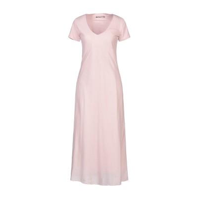 EUROPEAN CULTURE ロングワンピース&ドレス ピンク XS コットン 99% / ポリウレタン 1% ロングワンピース&ドレス