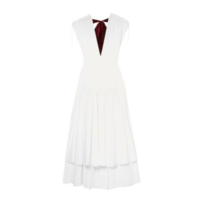 KHAITE 7分丈ワンピース・ドレス ホワイト 6 コットン 100% 7分丈ワンピース・ドレス