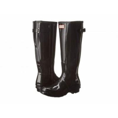 HUNTER ハンター レディース 女性用 シューズ 靴 ブーツ レインブーツ Original Back Adjustable Gloss Rain Boots Black【送料無料】